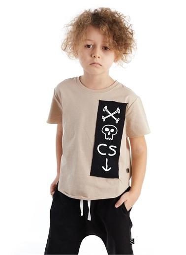 Colorinas Oversize Patch Tshirt Taş